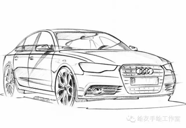 【素材】优秀汽车手绘线稿