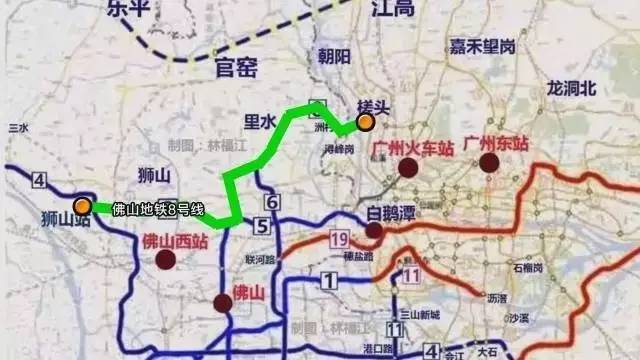 喜讯 佛山地铁8号线将贯彻金沙洲与广州地铁12号 13号线连通图片
