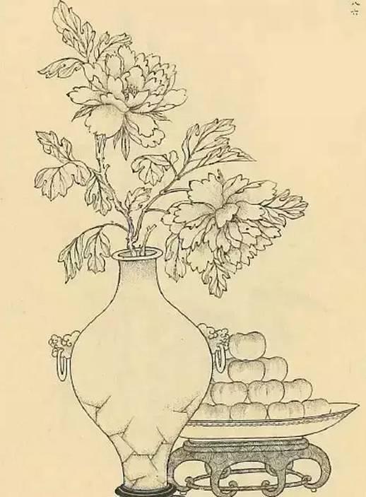 牡丹铅笔画-艺界藏鉴 古典家具 纹饰 在读图中体会雅趣横生