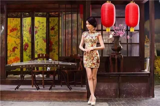 女子盛宴弹旗袍~给你意想不到的情趣古筝!用视觉哈尔滨绳图片