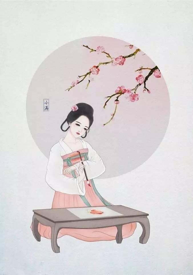 【推图】汉服节气古风人物手绘,节日拟人变成炒鸡有气质的小姐姐