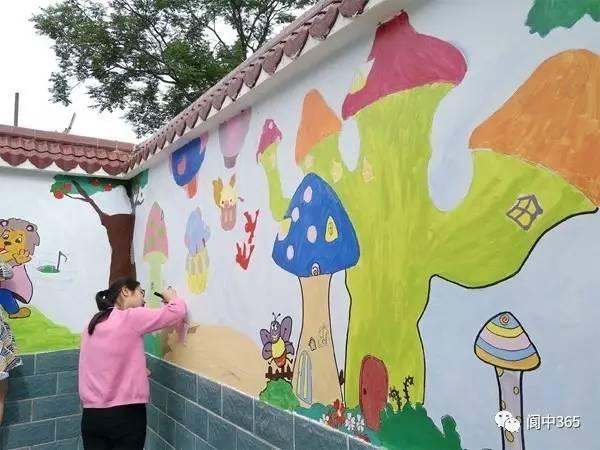 扶农中心校主题墙画出幼儿的多彩世界
