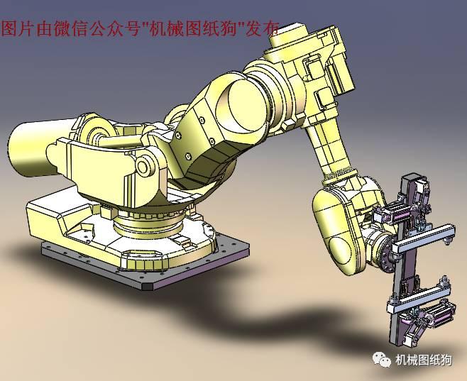 【機器人】6軸機器人及夾爪3d建模圖紙 solidworks設計 附step格式
