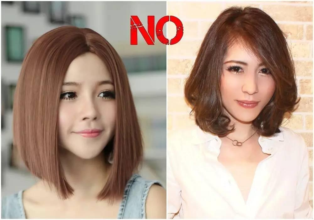 因为不扎起来,发际线的一部分一定会被遮挡掉的缘故,短发的刘海不再图片