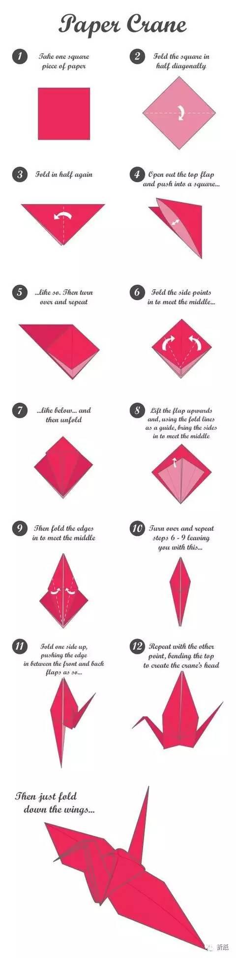 【折纸大全】飞机折纸步骤图解