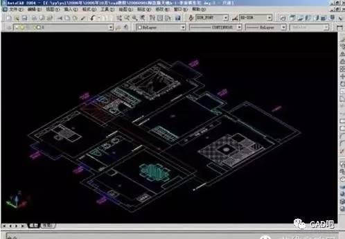 CAD绘制三维立体平面图的方法