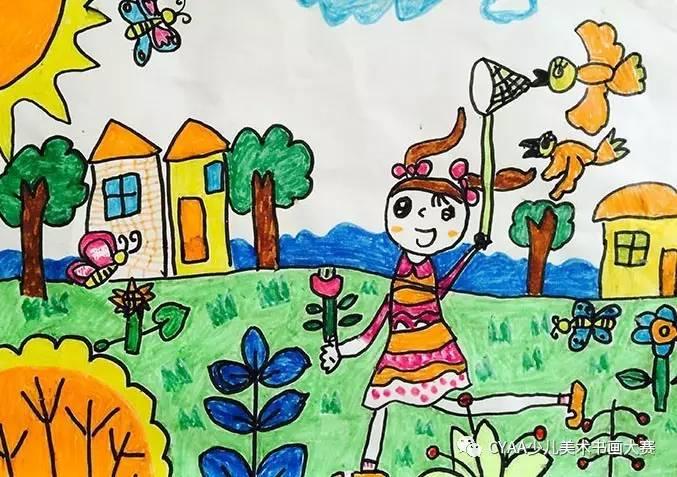 指导老师:牟兰    j775504107 刁奕萱 6岁 女 水彩画 《有趣的动物园