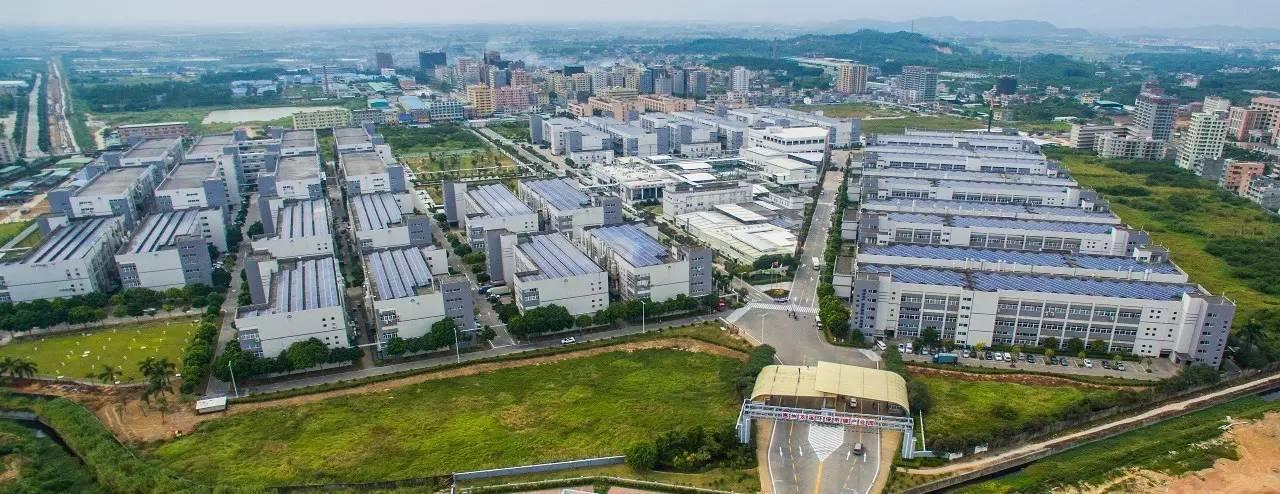 惠州龙溪环保电镀产业园全景鸟瞰图图片