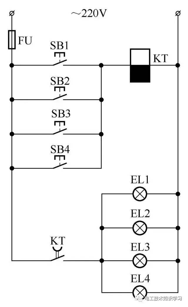 18.楼房走廊照明灯自动延时关灯电路