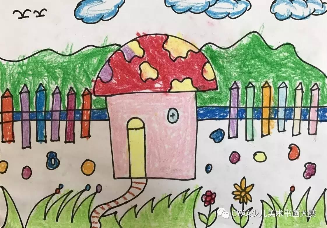幼儿园蜡笔画我的梦想