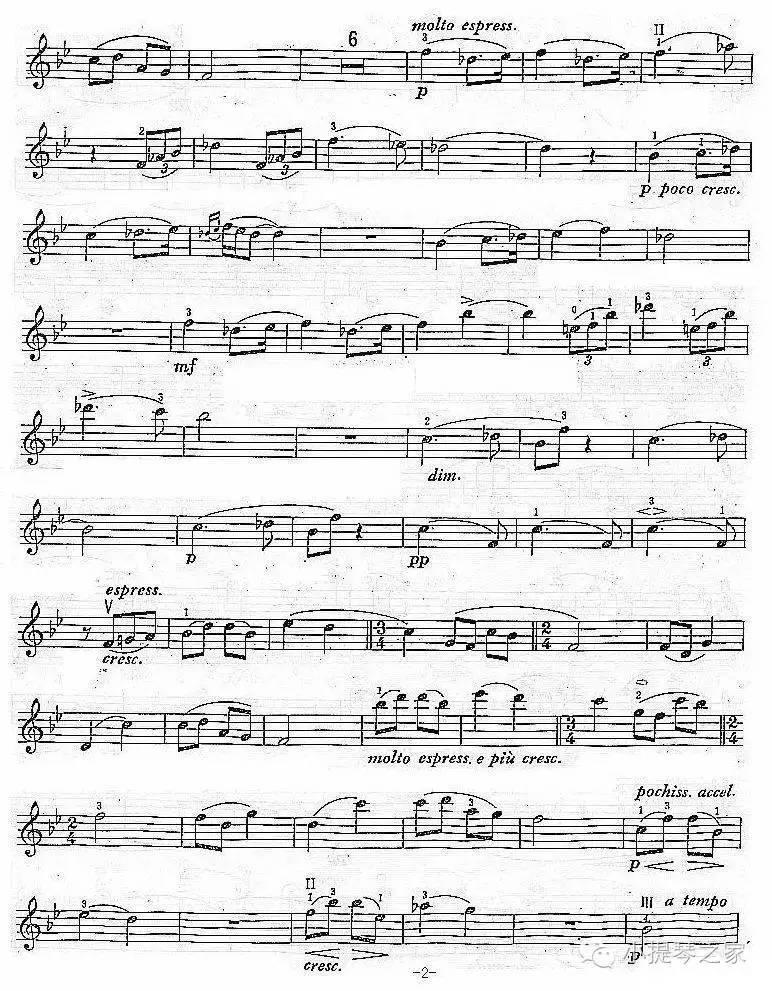 小提琴如歌的行板附小提琴谱柴可夫斯基帕尔曼演奏图片
