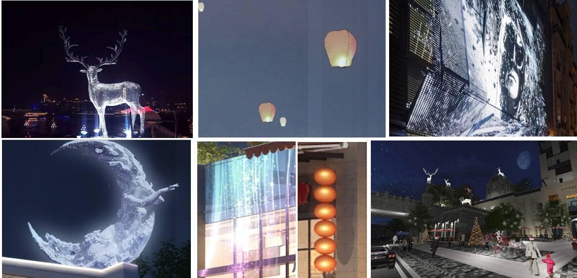 祥隆集团为打造顶级现代体验式商街,斥巨资为上市里做全方位氛围包装图片