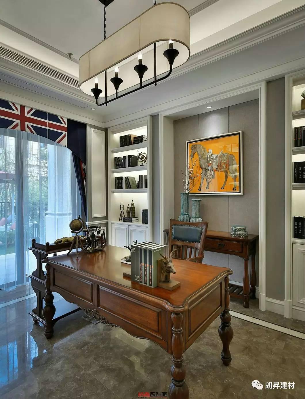 这样的能够多元化却互不相扰;传统的美式风格木质的厚重和仿古砖的做图片