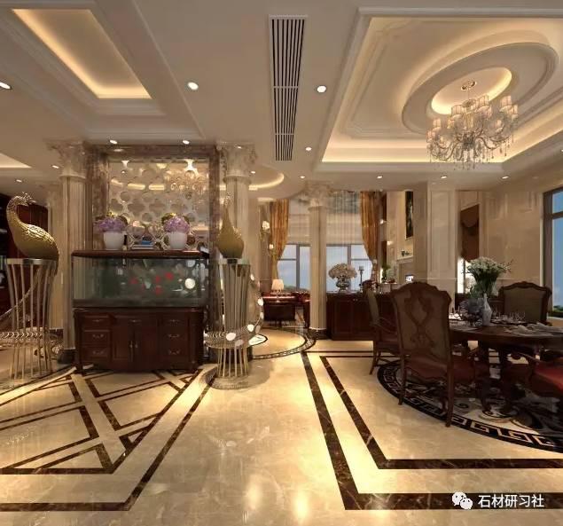 欧式别墅室内外石材装饰工程案例