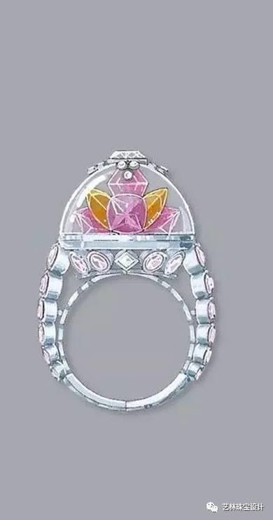珠宝手绘侧视图欣赏
