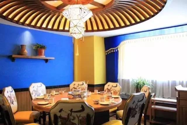 蒙古族题材布贴画-东昌路藏了一家蒙古主题餐厅 冰煮鲜羊,现熬奶茶,秘制烤羊排,一秒