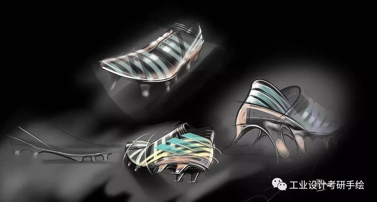 鞋子设计手绘草图