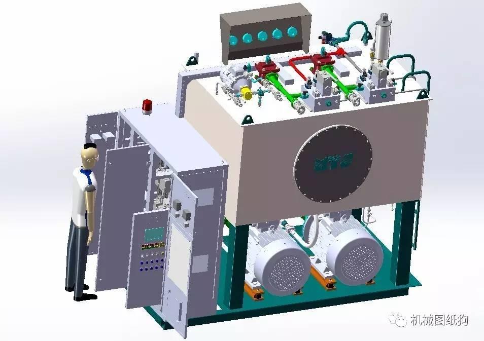 【众筹图纸】模内贴标机械手,液压动力装置设备,提升轮挖掘机模型,载