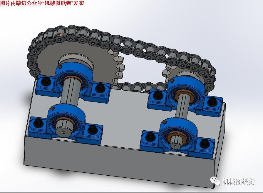 【差减变速器】图纸链轮v图纸数模3D工艺链条成型塑料与模具设计名词解释图片