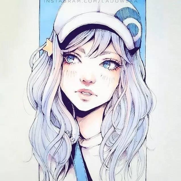 90后美女的小清新二次元动漫手绘,千万不要错过!