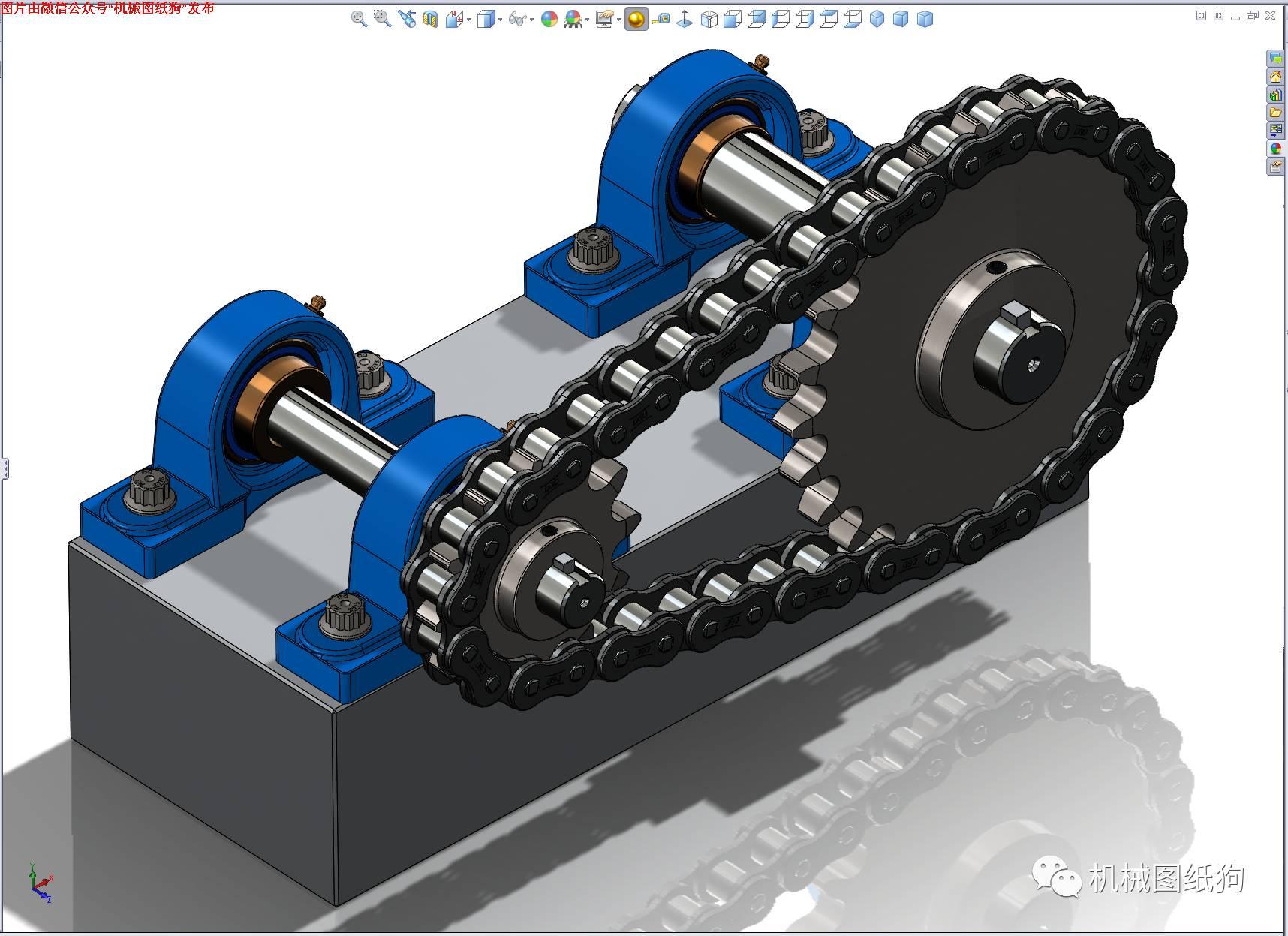 【差减变速器】烟囱链轮v烟囱数模3D链条净化系统图纸设计图图片