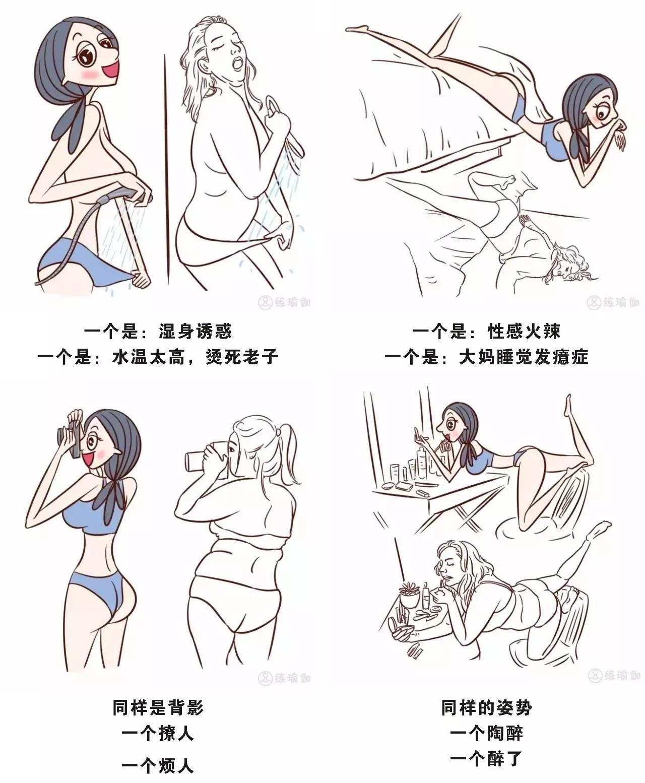 瑜伽卡通简笔画