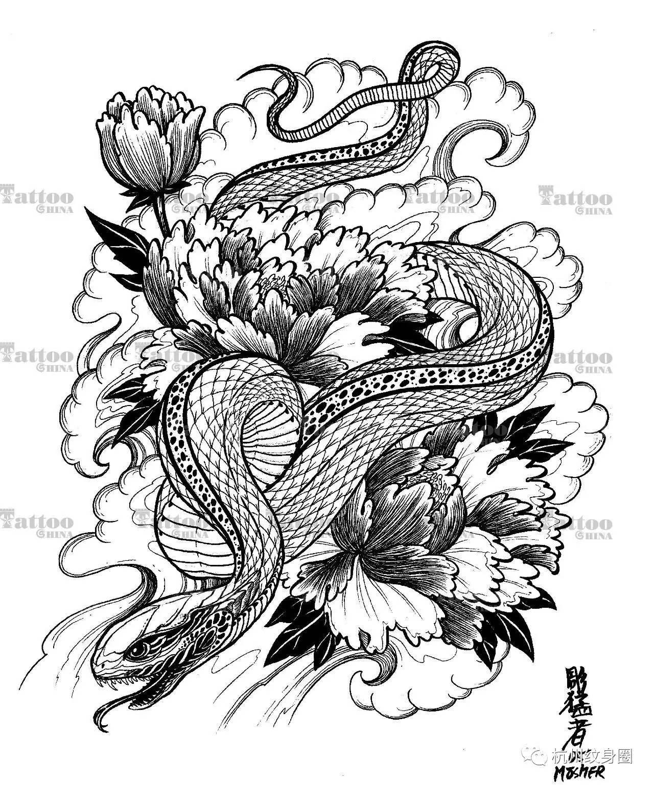 tattoo | 纹身素材:蛇