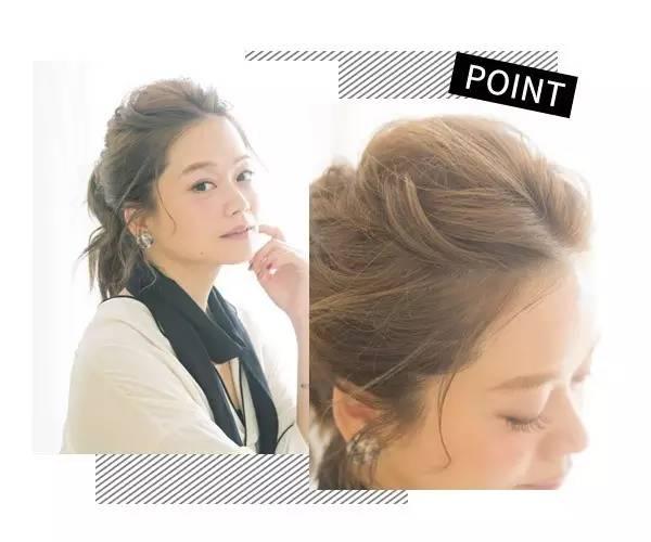 3种快手气质扎发   3 两小束编发跟其他头发都集合在后脑勺,用橡皮筋图片