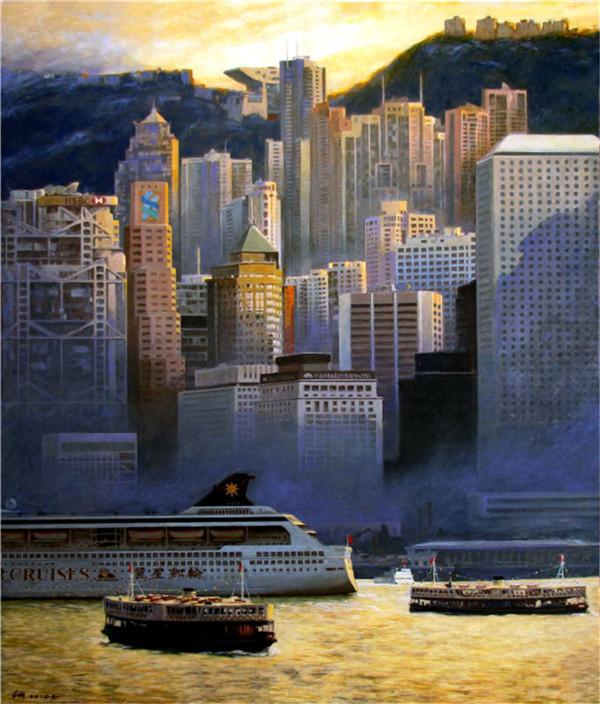 香港画坛油画家林明琛的艺术鉴赏