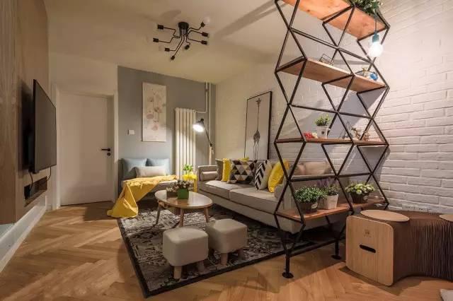 现代北欧风格二居,吧台,榻榻米阳台设计实用又美观!