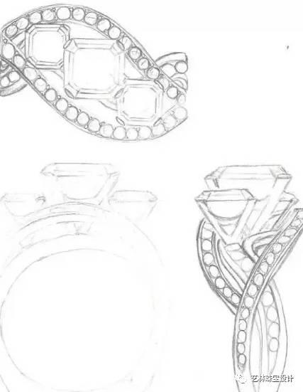 时尚 正文  ②透视: 在珠宝首饰的透视图表现中,一般采用成角透视