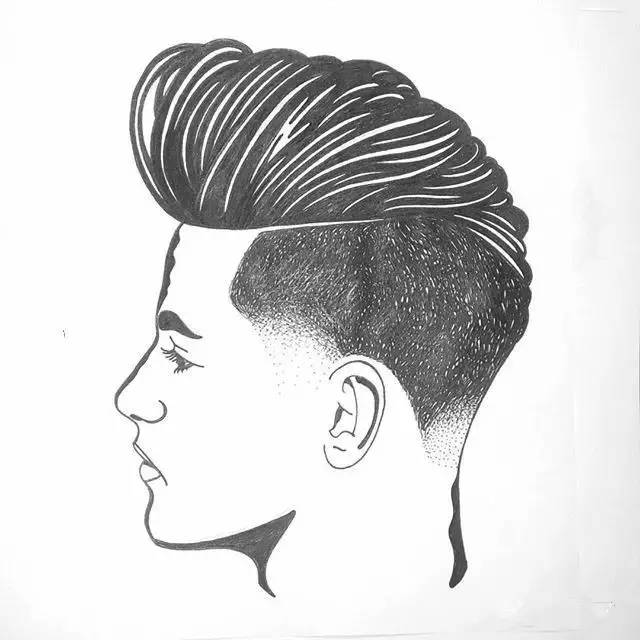 如今 很多美发店的墙上 都把真人照片换成他的画作 换种风格 瞬间高大图片