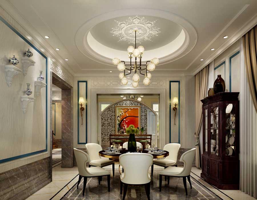 600平豪华,时尚欧式别墅装修设计效果图