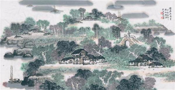 中国当代山水画名家陈伯程艺术欣赏