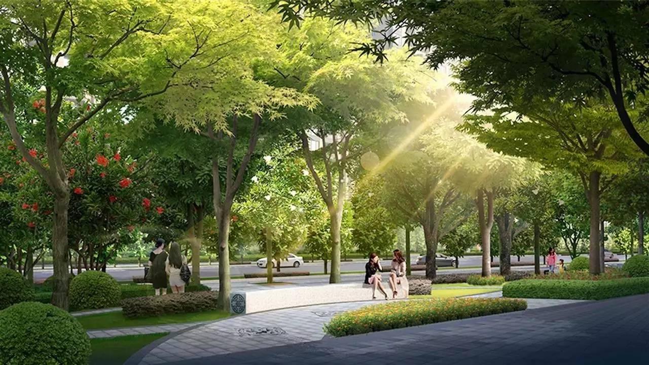我们在道路绿地建设中充分利用沿路线性特点,进行洒水或浇水而不设图片