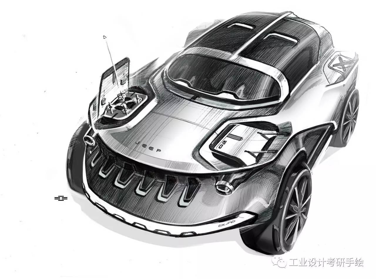 交通工具--汽车手绘图