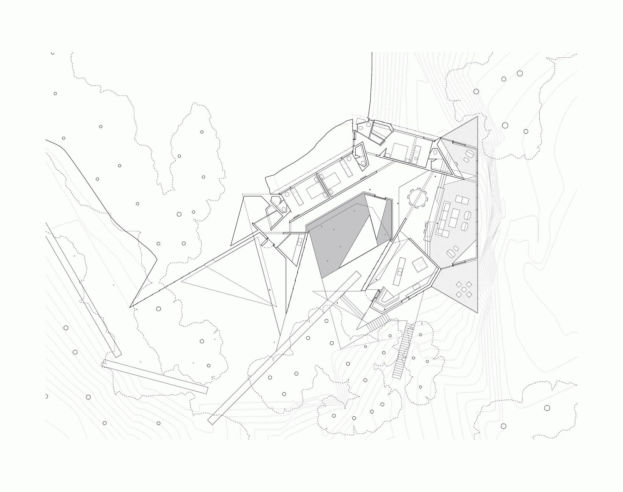 鬼才建筑师 | 隐于自然的创意别墅设计图片