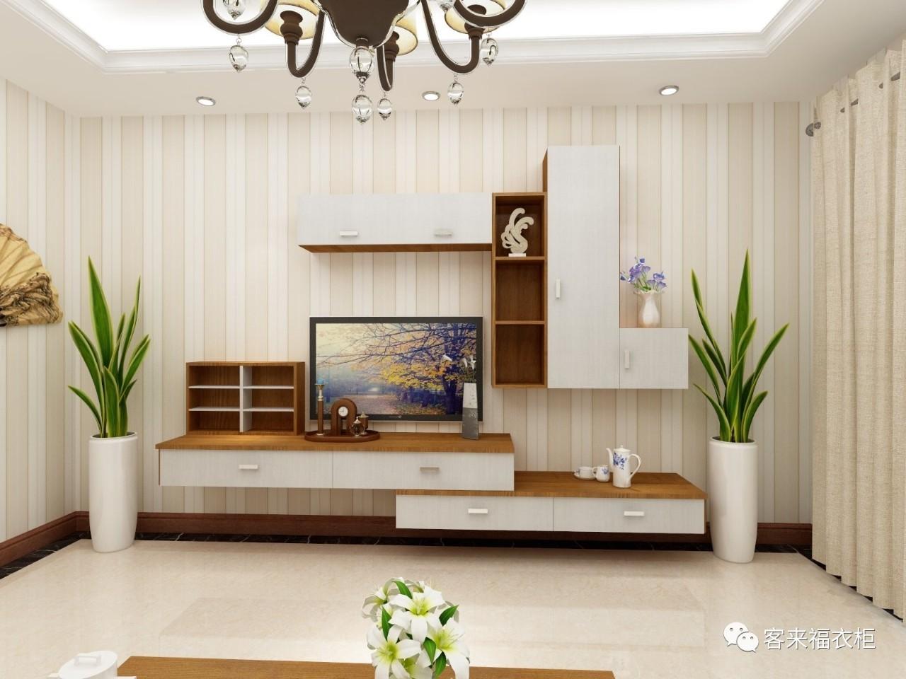 传统造型的电视柜简约经典.