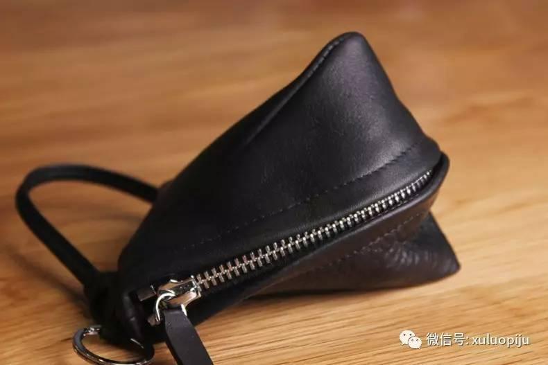 【墟落手工皮具】个性实用迷你零钱包/钥匙包 头层牛皮手工制作