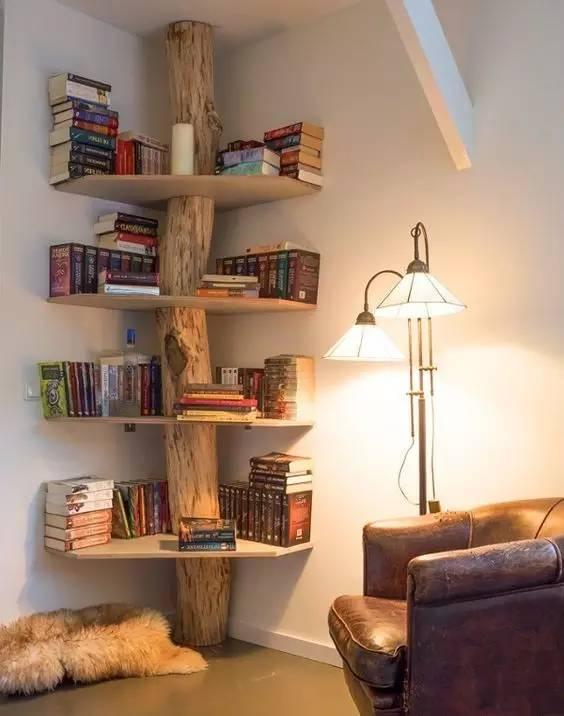 这样造型简易的几何线条书架,时尚个性储物量大,不浪费每一寸空间!