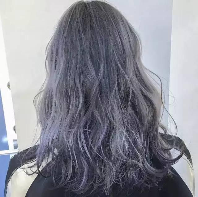 自带仙气的灰紫色发型,你要不要试下?图片