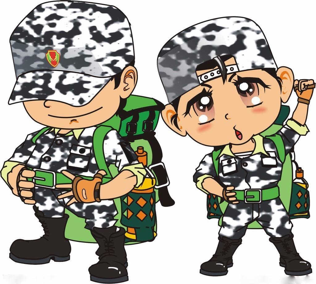 军事素材手绘漫画