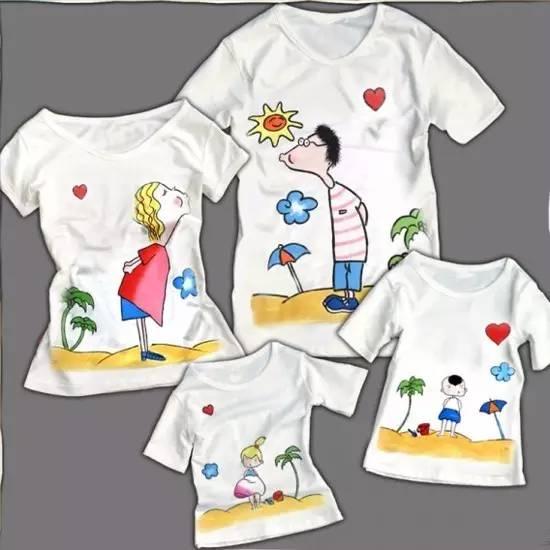商丘名门城- 彩绘t恤diy 简单的白t恤配可爱的手绘图案 穿上就是独具