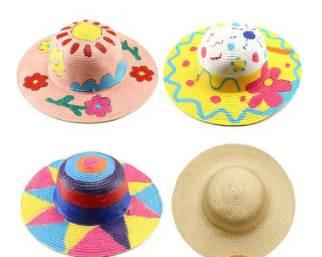彩绘个性草帽 想戴与众不同的帽子 那就来现场自己画呀 花盆diy 亲手