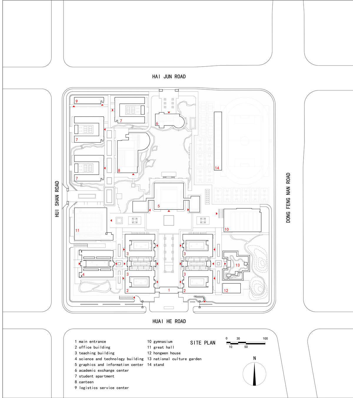 皋城中学平面图怎么画