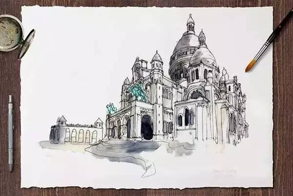 看完大神手绘世界著名40个建筑,比环游世界还爽!