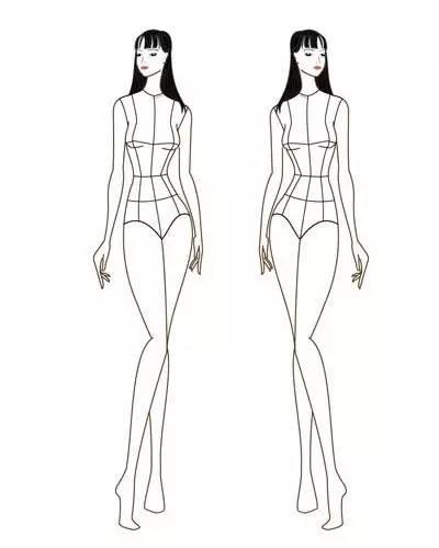 手绘衣服设计图头