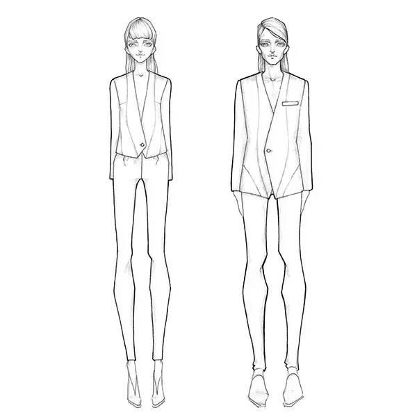 服装设计设计图几头身