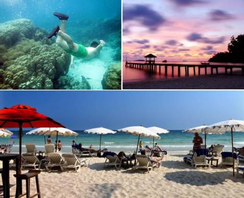 沙美岛是位于泰国湾上的一座小岛,与周边离岛组成了国家海洋公园.