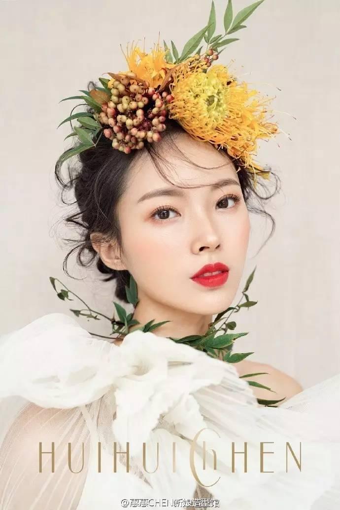 2017简约森系新娘造型,干净整洁明亮水润妆面!图片